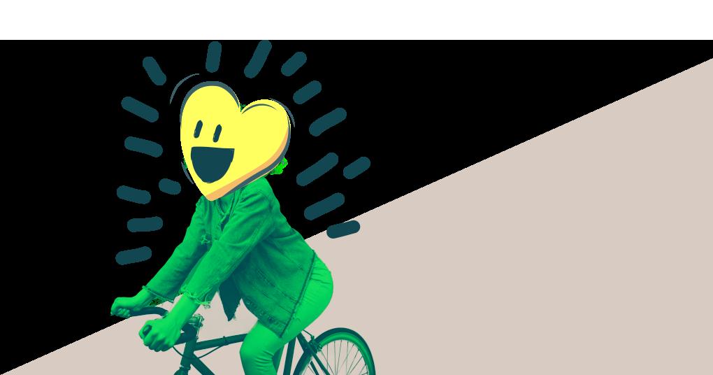 Paseo saludable en bicicleta